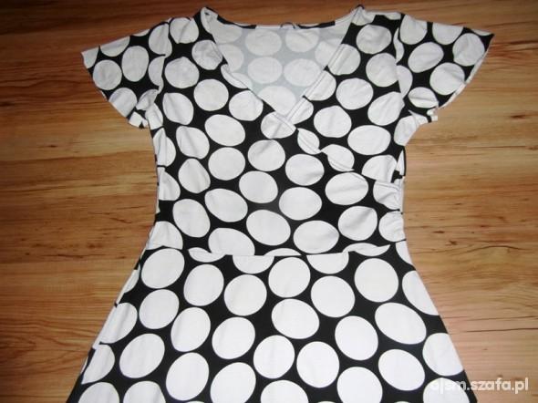 Suknie i sukienki evie sukienka tunika 40 42 grochy