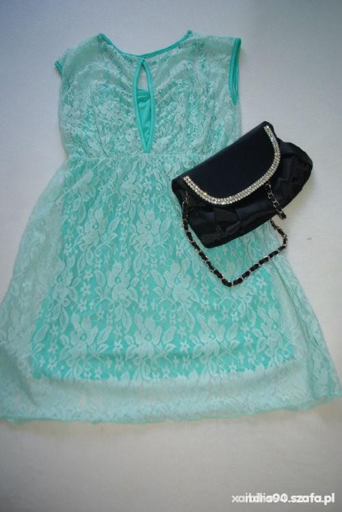 miętowa sukieneczka