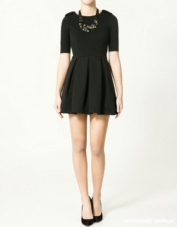 Eleganckie Zara sukienka plisowanapagony
