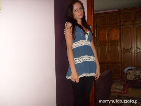 Romantyczne niebieska tunika
