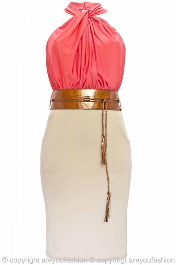 Suknie i sukienki Sukienka z drapowaną bluzeczką na wiosnę