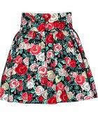 spódnica h&m w kwiaty floral rozkloszowana...