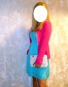 Miętowa sukienka z sh