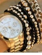 Złoty zegarek boyfriend Michael Kors jak Asos