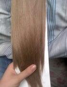 Włosy clip in naturalny ciemny blond brąz
