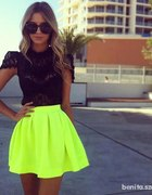 neon spodnica
