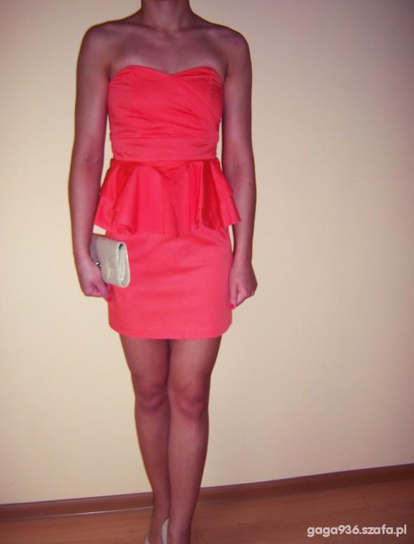 Suknie i sukienki Piękna pomarańczowa sukienka NEW LOOK
