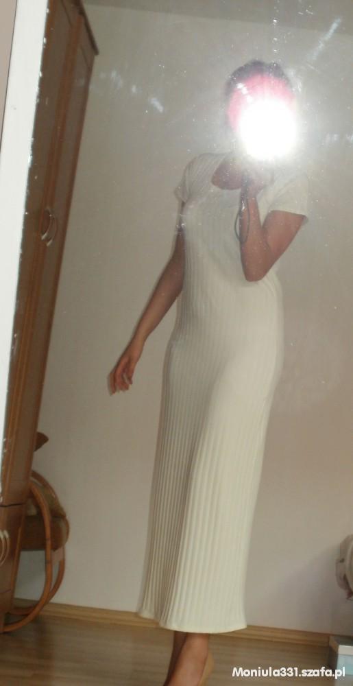 Suknie i sukienki Kremowa maxi sukienka ala zara