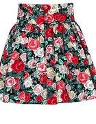Rozkloszowana spódniczka w róże