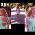 Sukienka kontrafałdy
