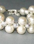 Bransoletka posrebrzana perłowa