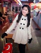 Mój biały płaszczyk Japan Style Real foto