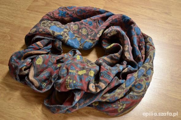 Chusty i apaszki chusta apaszka aztecka boho hippie floral
