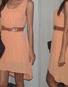 morelowa sukienka asymetr