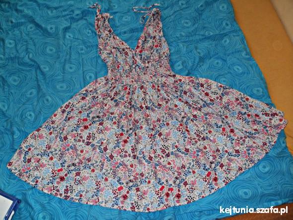 Suknie i sukienki sukienka L floral zwiewna