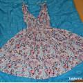 sukienka L floral zwiewna