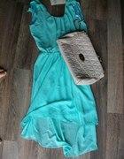 Miętowa sukienka cuuudo