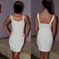 sukienka h&m biała zip