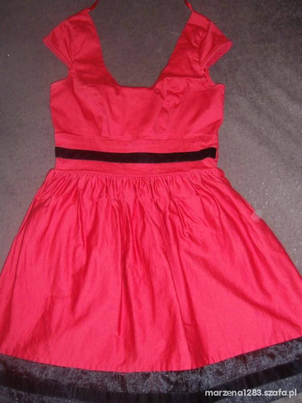 Suknie i sukienki Czerwona sukienka asos