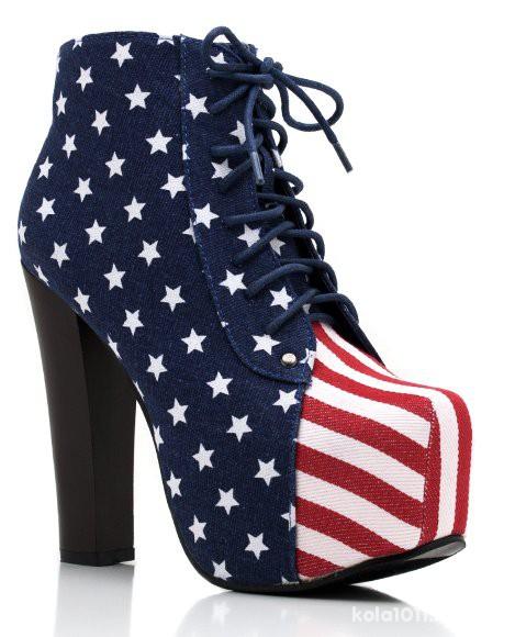 Obuwie BUTY Z FLAGĄ USA
