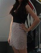 Czarno różowa sukienka...