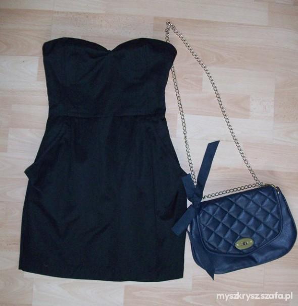 Suknie i sukienki Czarna seksowna sukienka gorset