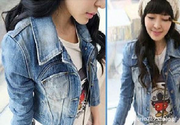 Ubrania jeansowa kurtka dżinsowa katana