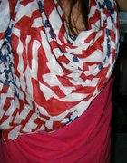 Chusta wzór amerykańska flaga