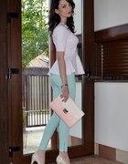 Baskinka i miętowe spodnie