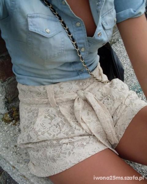 Mój styl Jeans z koronka