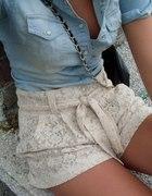 Jeans z koronka
