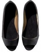 czarne baleriny hm 38 open toe