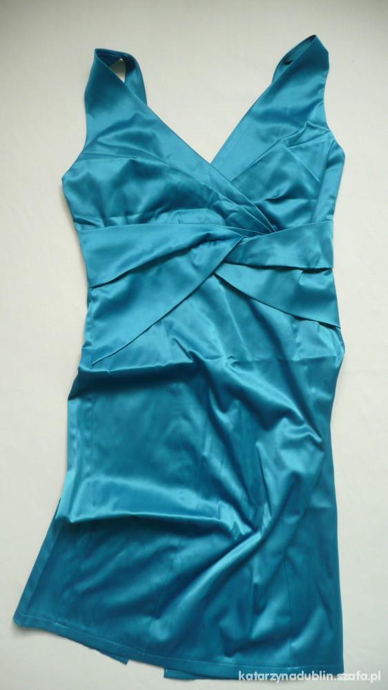 Suknie i sukienki turkusowa sukienka