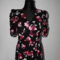 Sukienka w róże z bufkami EVIE cena z wysyłką