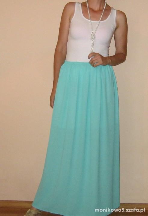 Miętowa maxi skirt
