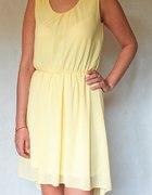 Żółta asymetryczna sukienka