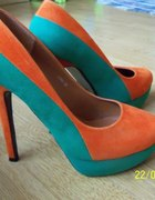 Szpilki pomarańczowo zielone...