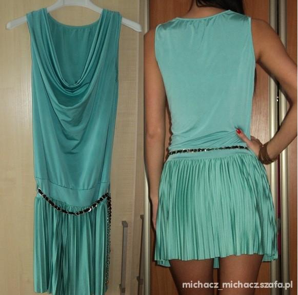 Suknie i sukienki seledynowa sukienka