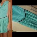 seledynowa sukienka