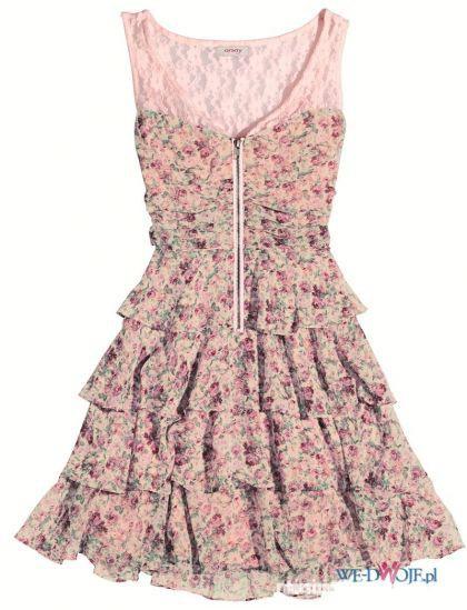 sukienka floral retro vintage
