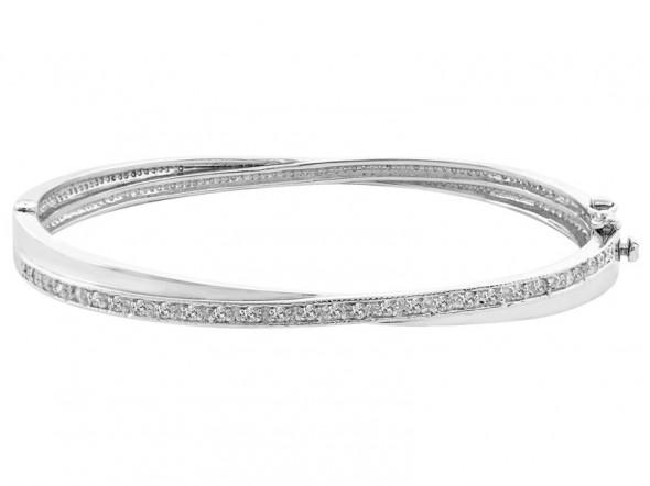 Moja srebrna bransoletka z cyrkoniami...