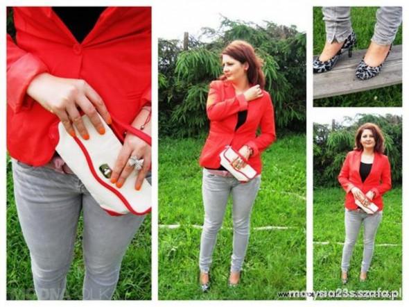 Do pracy lady in red Marcelka Fashion