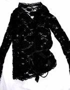 narzutka koronkowa czarna