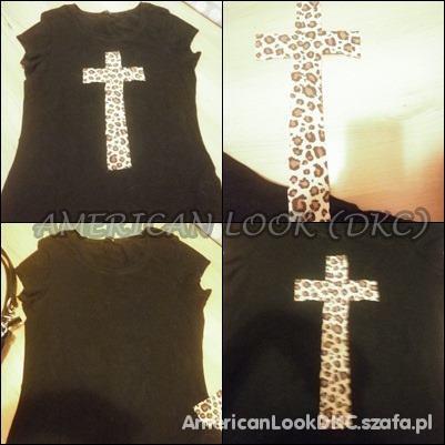 Bluzka z krzyżem panterkowym krzyż panterka...
