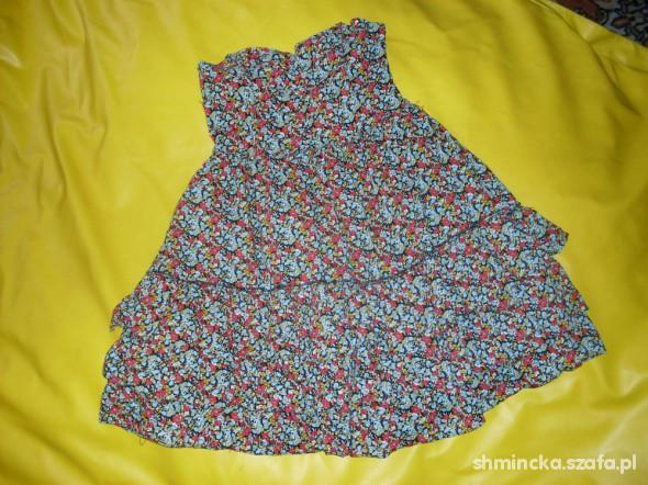 Suknie i sukienki mini floral falbanki atmosphere kwiaty