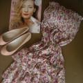 nowa sukienka w kwiaty sukienki flora z paskiem