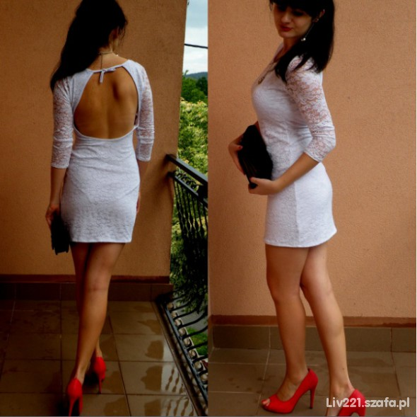 Mój styl white lace dress