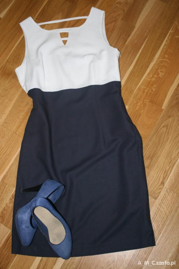 Suknie i sukienki sukienka dwukolorowa
