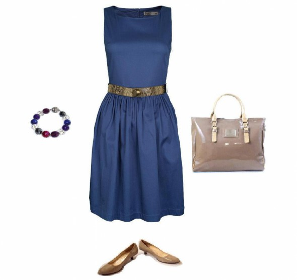 Suknie i sukienki Niebieska dziewczęca