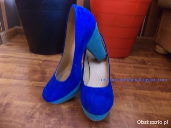 Szpilki Blue mint